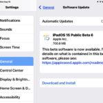 iOS 15 public beta 6