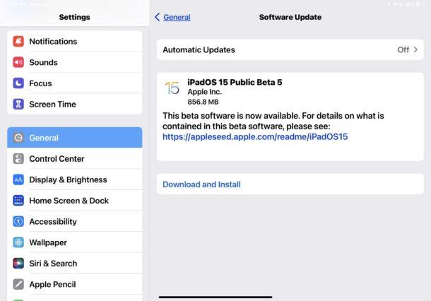 iOS 15 and iPadOS 15 public beta 5