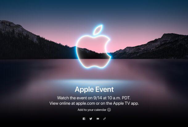 Apple Event for September 2021