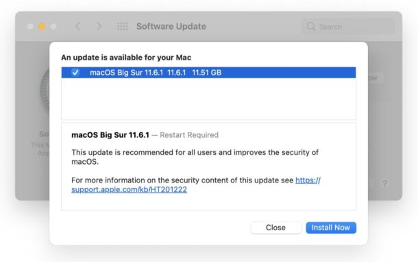 macOS Big Sur 11.6.1 beta