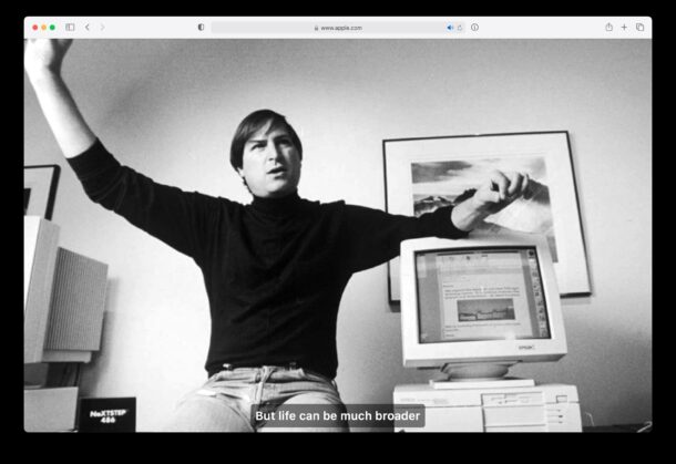 Apple 10 year commemoration of Steve Jobs death