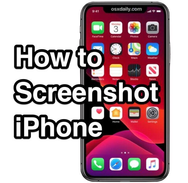 How to Screenshot iPhone