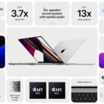 M1 Pro and M1 Max MacBook Pro spec brag chart